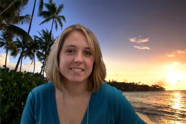Picture of Mrs. Ackermann with island background